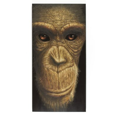 Massivum Leinwandbild Schimpanse