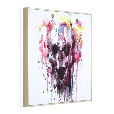 Massivum Leinwandbild Buntes Skull