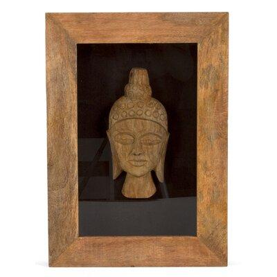 Massivum Wanddekoration Buddha Kopf im Bilderrahmen
