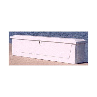 """Plastic Deck Box Size: 24.25"""" H x 96"""" W x 22"""" D"""