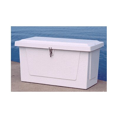 """Plastic Deck Box Size: 21.5"""" H x 39.5"""" W x 19.75"""" D"""