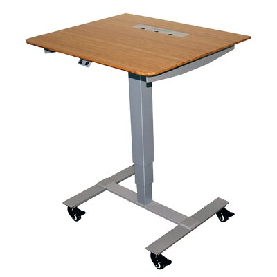 Sit Stand Electric Portable Presentation Standing Desk Finish: Silver