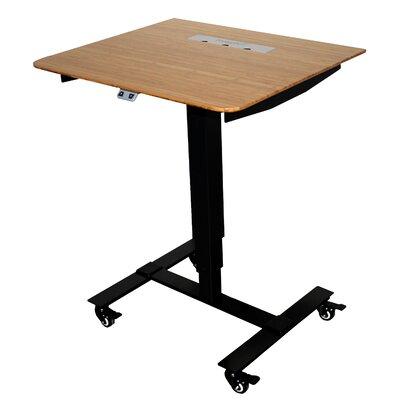 Sit Stand Electric Portable Presentation Standing Desk Finish: Black