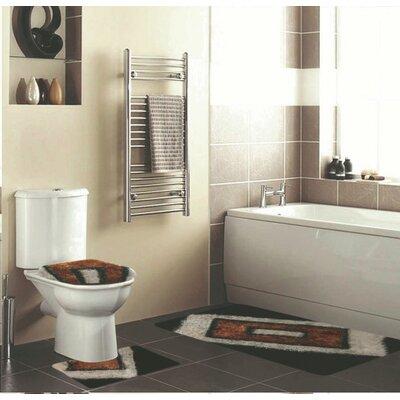 Eirenne 3 Piece Bath Rug Set Color: Brown