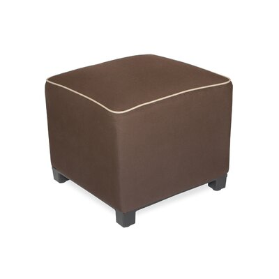 Upholstered Ottoman Upholstery: Canvas Bay Brown