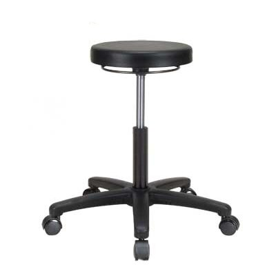 """Height Adjustable Lab Stool Size: 28"""" H x 24"""" W x 24"""" D"""