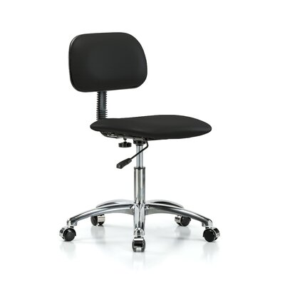Low-Back Desk Chair Upholstery: Black Fabric