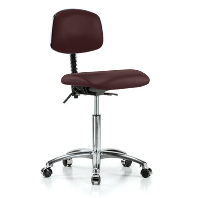 Low-Back Desk Chair Upholstery: Burgundy