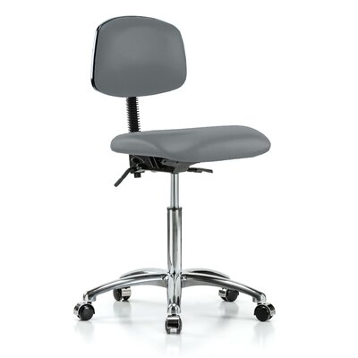 Low-Back Desk Chair Upholstery: Cinder