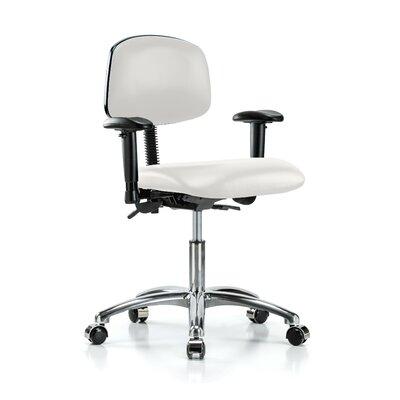 Low-Back Desk Chair Upholstery: Adobe White Vinyl