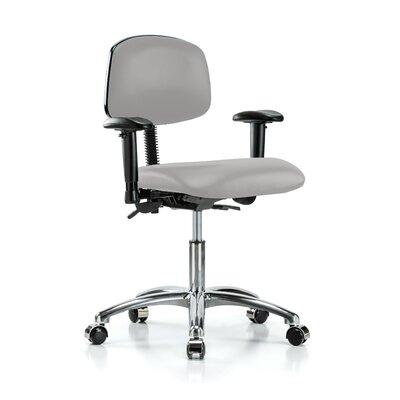 Low-Back Desk Chair Upholstery: Grey Vinyl