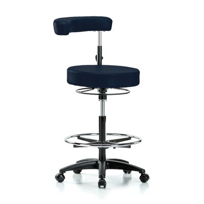 Height Adjustable Dental Stool with Procedure Arm and Foot Ring Color: Imperial Fabric