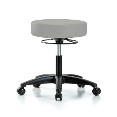 """Height Adjustable Massage Therapy Swivel Stool Color: Grey Vinyl, Size: 23"""" H x 24"""" W x 24"""" D"""