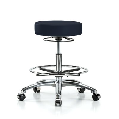 Height Adjustable Massage Therapy Swivel Stool with Foot Ring Color: Imperial Fabric