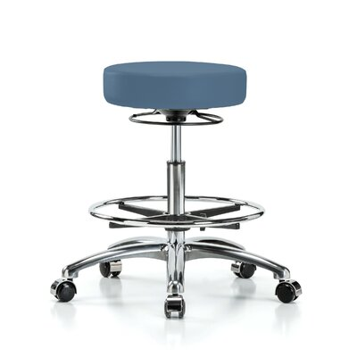 Height Adjustable Massage Therapy Swivel Stool with Foot Ring Color: Newport Fabric