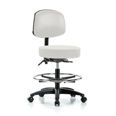 Drafting Chair Color: Adobe White Vinyl
