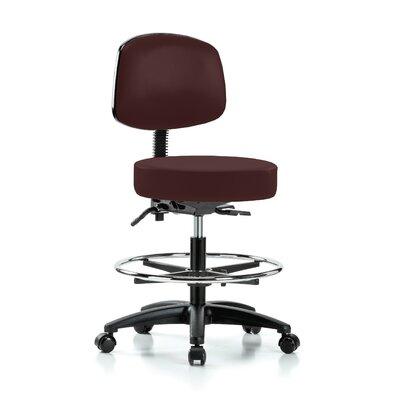 Drafting Chair Color: Burgundy Vinyl