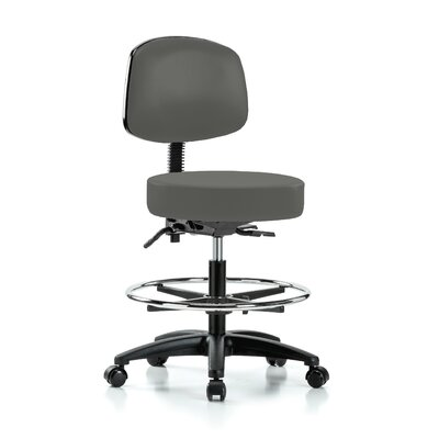 Drafting Chair Color: Charcoal Vinyl