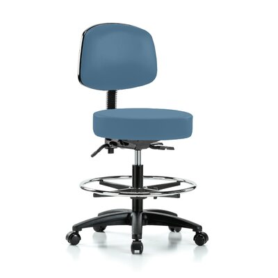Drafting Chair Color: Colonial Blue Vinyl
