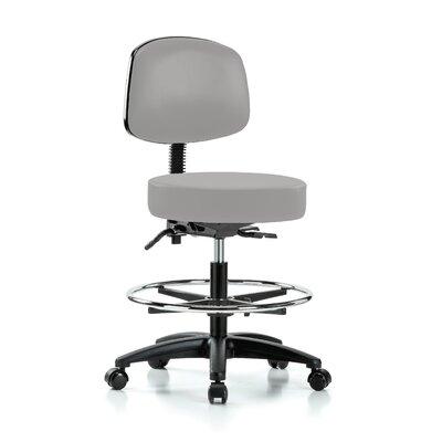 Drafting Chair Color: Grey Vinyl