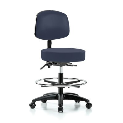 Drafting Chair Color: Imperial Blue Vinyl