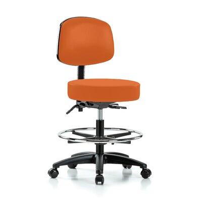 Drafting Chair Color: Orange Kist Vinyl