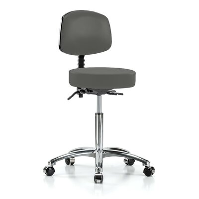 Height Adjustable Doctor Stool Color: Charcoal Vinyl