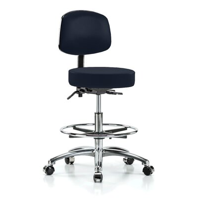 Height Adjustable Doctor Stool with Foot Ring Color: Imperial Fabric