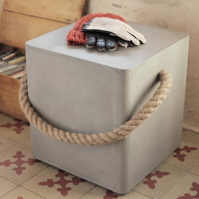 Edge Wheels and Rope Accent Stool