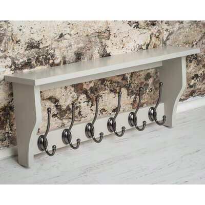 Calderwood Wall Mounted Coat Rack Color: French Gray