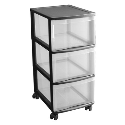 Rotho 66cm Rollcontainer Optimo mit 3 Schubladen