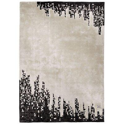 Guy Laroche Harlem Hand-Tufted Black/White Area Rug