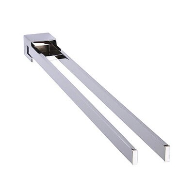 Bravat New York 44.5cm Wall Mounted Towel Rail Two Arms