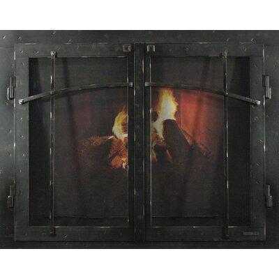 "Mountain Series Fireplace Glass Door Size: 30"" H x 38"" W x 3"" D, Finish: Natural"