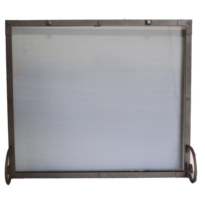 Single Panel Fireplace Screen Size: Large, Finish: Natural
