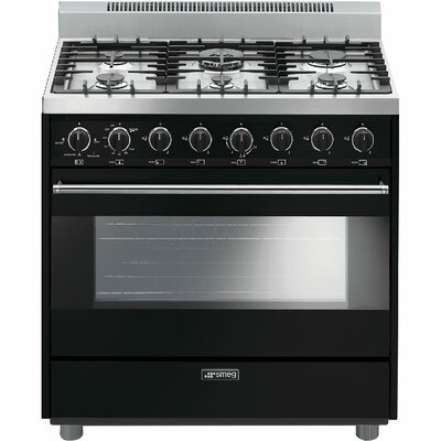 "36"" Free-standing Gas Range Color: Black"