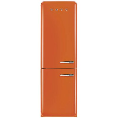 11.7 cu. ft. Counter Depth Bottom Freezer Refrigerator with Wine Rack Color: Orange, Handle Location: Right