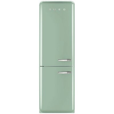 11.7 cu. ft. Counter Depth Bottom Freezer Refrigerator with Wine Rack Color: Pastel Green, Handle Location: Right