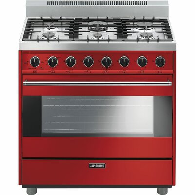"36"" Free-standing Gas Range Color: Red"
