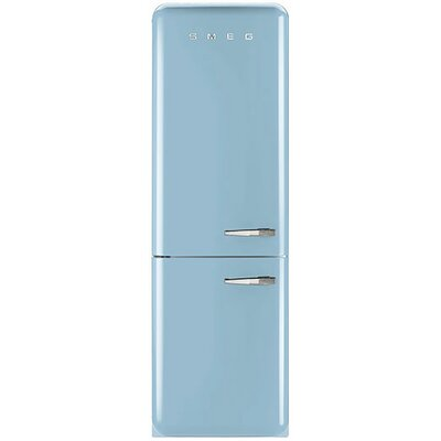 11.7 cu. ft. Counter Depth Bottom Freezer Refrigerator with Wine Rack Color: Pastel Blue, Handle Location: Right