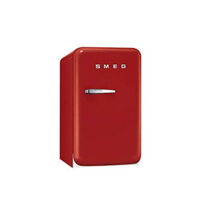 1.5 cu. ft. Compact Refrigerator Color: Red, Hinge: Right
