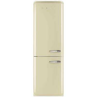 11.7 cu. ft. Counter Depth Bottom Freezer Refrigerator with Wine Rack Color: Cream, Handle Location: Right