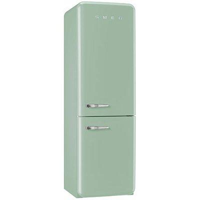 11.7 cu. ft. Counter Depth Bottom Freezer Refrigerator with Wine Rack Color: Pastel Green, Handle Location: Left