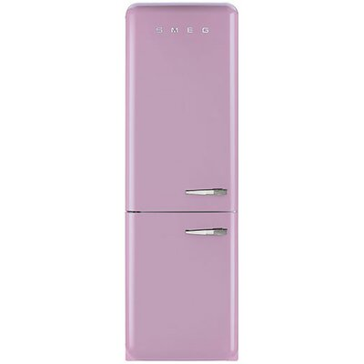 11.7 cu. ft. Counter Depth Bottom Freezer Refrigerator with Wine Rack Color: Pink, Handle Location: Right