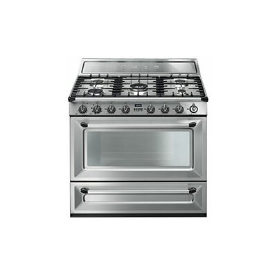 "Victoria 36"" Free-standing Gas Range Color: Stainless Steel"