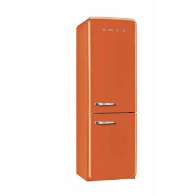 11.7 cu. ft. Counter Depth Bottom Freezer Refrigerator with Wine Rack Color: Orange, Handle Location: Left