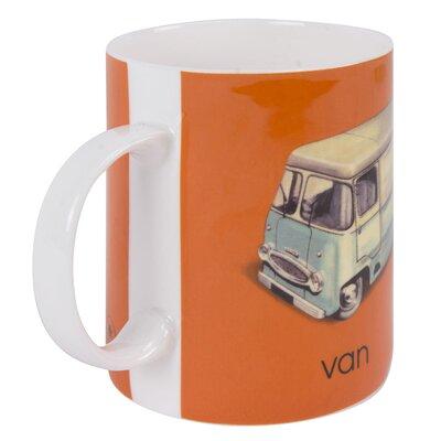 Designed in Colour Ladybird V-Van Mug