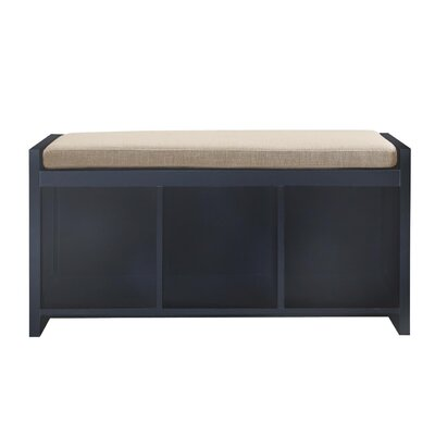 Allen Wood Storage Bench Color: Black