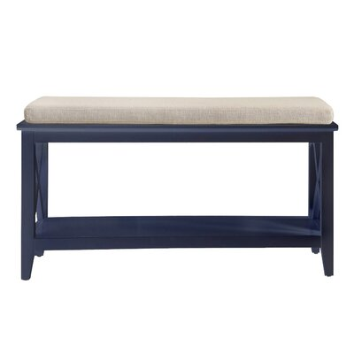 Little Elm Wood Storage Bench Color: Black