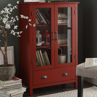 2 Door Accent Cabinet Color: Red